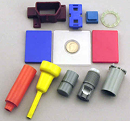 color plastic part samples